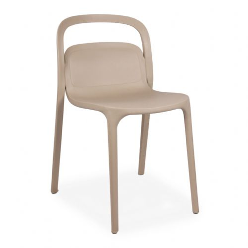 Plastic Stackable Cream  Smith1 Chairs